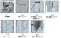 画像3: KU91900【空調服セット】 空調服ブルゾン・ファン・バッテリー(充電器付)/長袖・綿100%