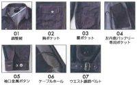 画像3: KU91960【ブルゾンのみ】空調服/長袖・デニム調