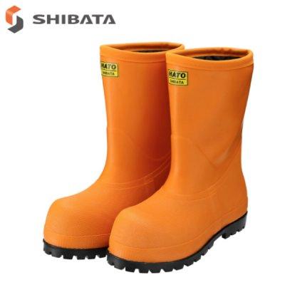 画像1: NR012 冷凍庫用〈-60℃対応〉防寒安全長靴 (オレンジ) (1)