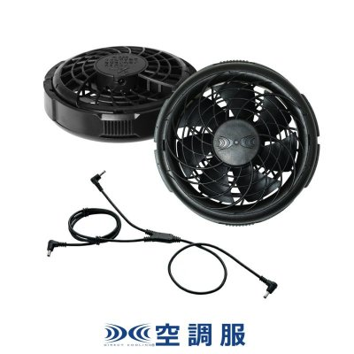 画像1: FAN2300 薄型ファン(ブラック)2個+ケーブル (1)