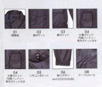 画像3: AR12003【空調服セット】空調服ブルゾン・ファン・バッテリー(充電器付)/長袖
