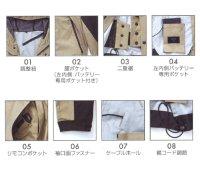 画像3: AR12002【空調服セット】空調服ブルゾン・ファン・バッテリー(充電器付)/マウンテンパーカー