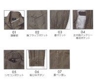 画像3: KU92040【空調服セット】空調服ブルゾン・ファン・バッテリー(充電器付)/長袖・綿100%