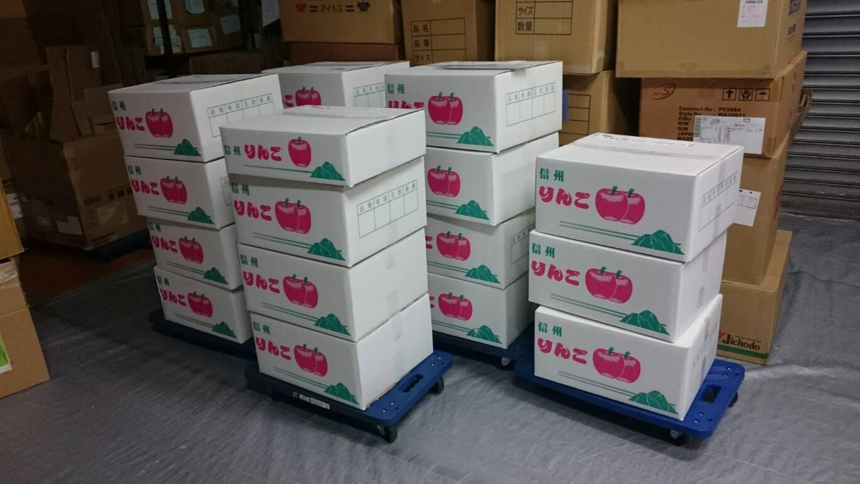 【信州工場より、りんごが届きました♪】