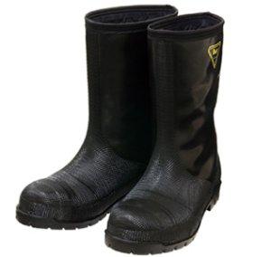 画像1: NR041 冷凍庫用〈-40℃対応〉防寒安全長靴 (ブラック) (1)